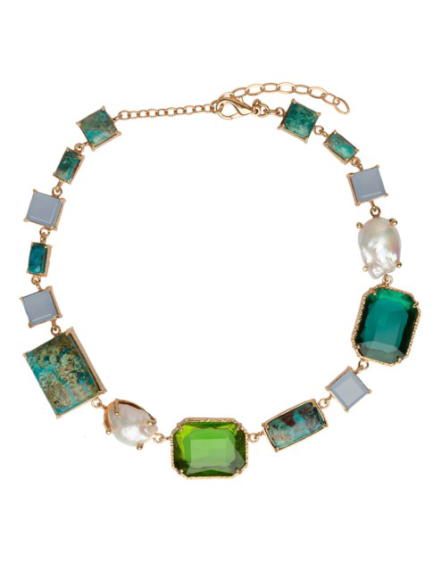 Christie Nicolaides Tabitha Necklace Gold & Green