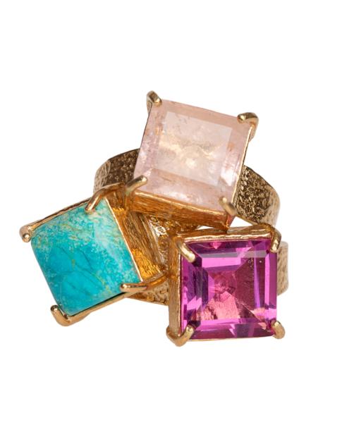 Christie Nicolaides Gaia Ring Set Multi In Multi Color