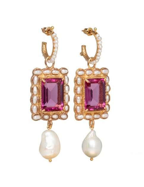 Christie Nicolaides Aurelia Earrings Pink