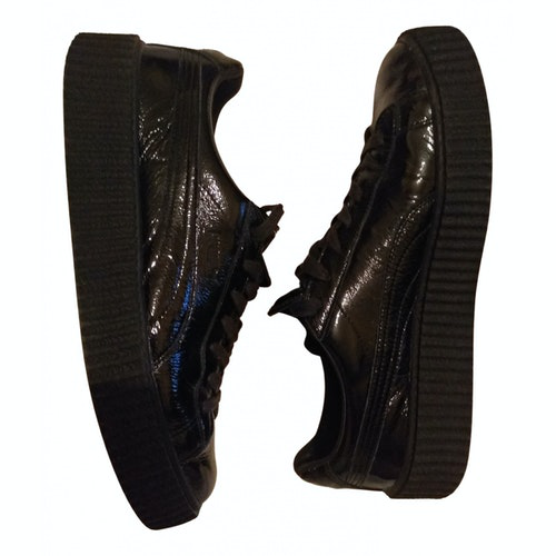 Fenty X Puma Black Patent Leather Trainers