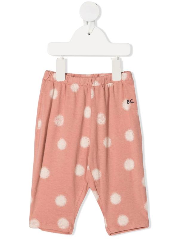 Bobo Choses Babies' Polka-dot Leggings In Pink