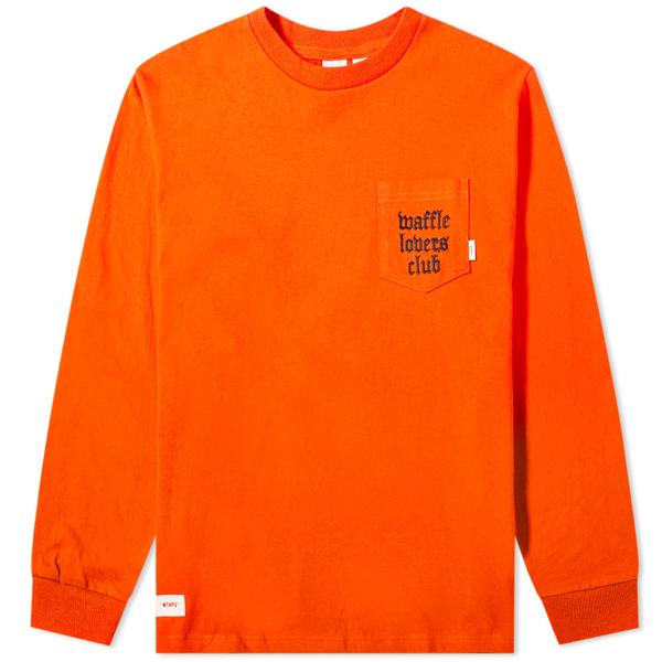 Vans Vault X Wtaps Long Sleeve Tee In Orange