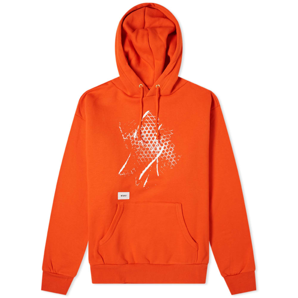 Vans Vault X Wtaps Pullover Hoody In Orange