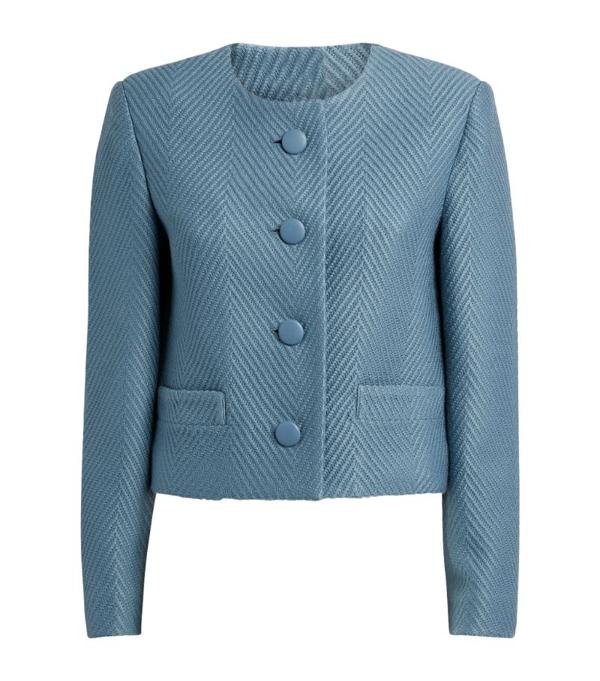 St. John Wool Tailored Cardigan