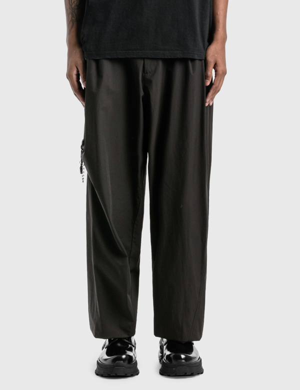 Hyein Seo Chained Wide Pants In Black