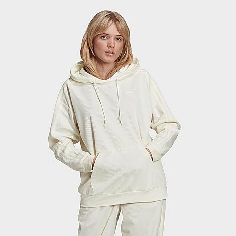 Adidas Originals Adidas Women's Originals R.y.v. Embroidered Hoodie In White