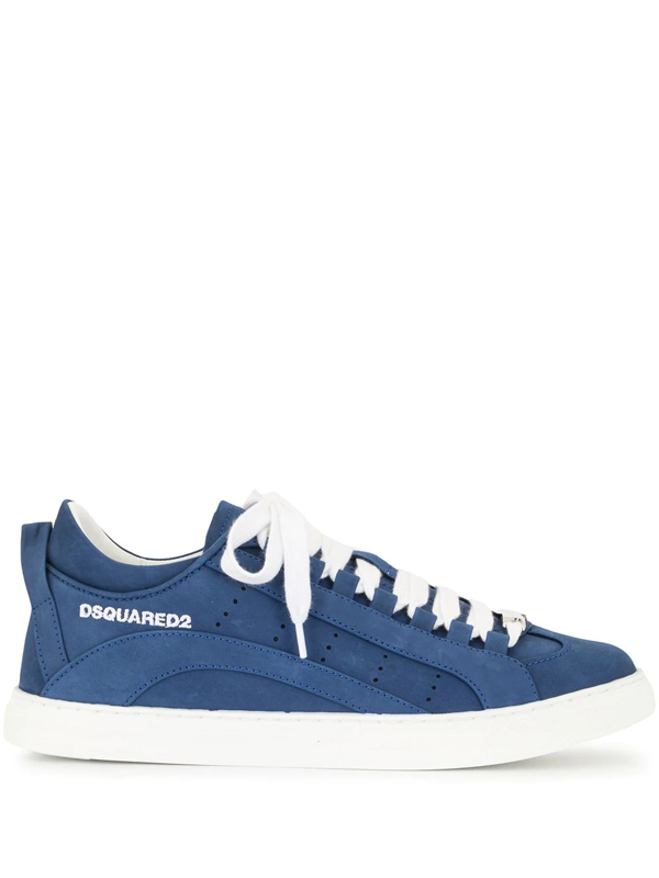 Dsquared2 Logo Lace-up Low-top Sneakers In Blue