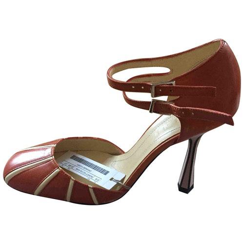 Marni Orange Leather Heels