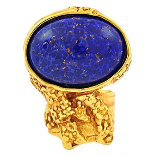 Saint Laurent Arty Blue Metal Ring
