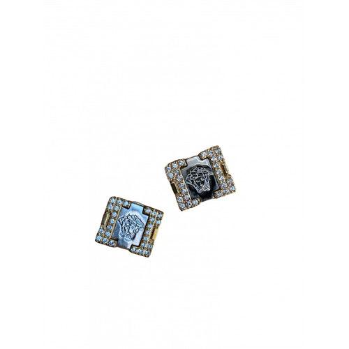 Versace Medusa Gold Metal Earrings