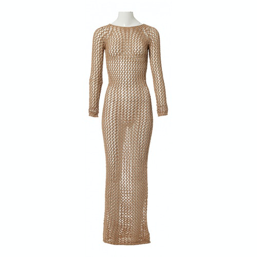 Balmain Beige Cotton Dress