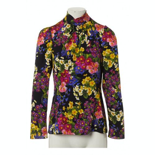 Dolce & Gabbana Multicolour Silk  Top