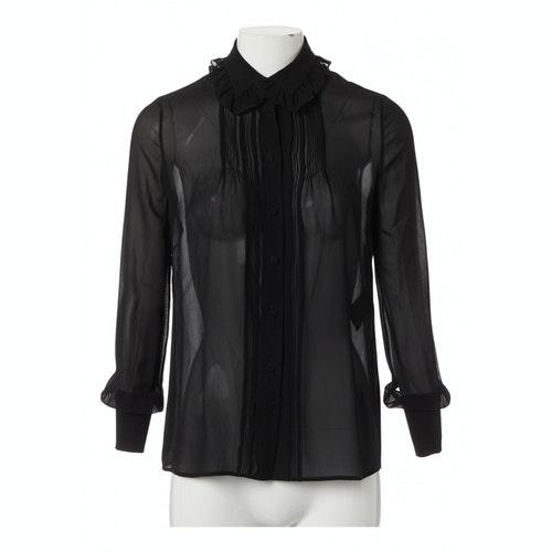 Saint Laurent Black Silk  Top