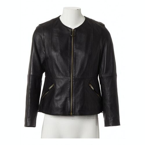 Golden Goose Black Leather Leather Jacket
