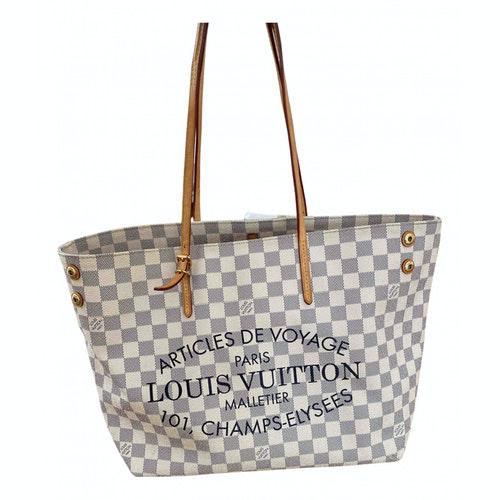Louis Vuitton Neverfull Beige Cloth Handbag