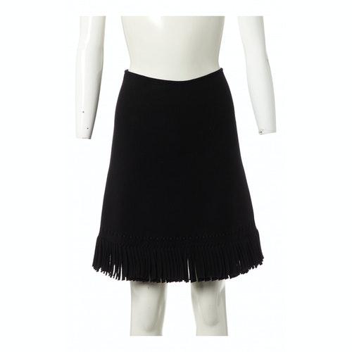 Alaïa Black Wool Skirt