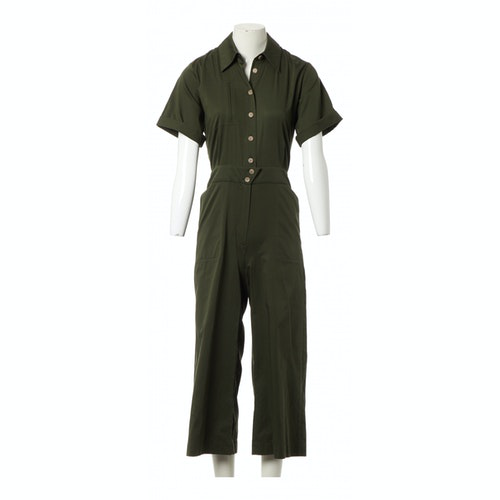 Ba&sh Spring Summer 2020 Khaki Cotton Jumpsuit
