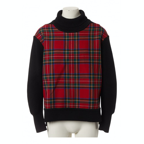 Burberry Red Wool Knitwear