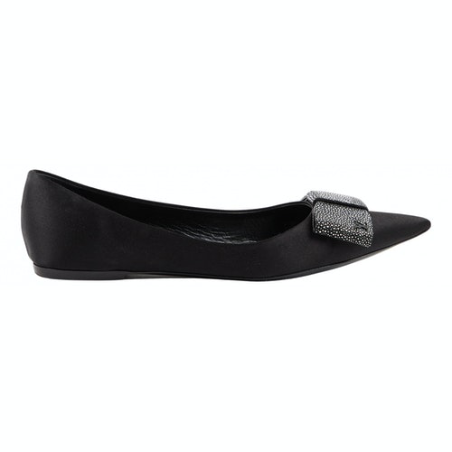 Louis Vuitton Black Cloth Ballet Flats