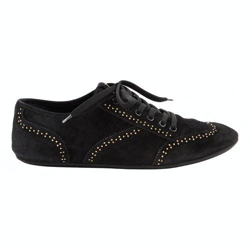 Louis Vuitton Black Suede Lace Ups