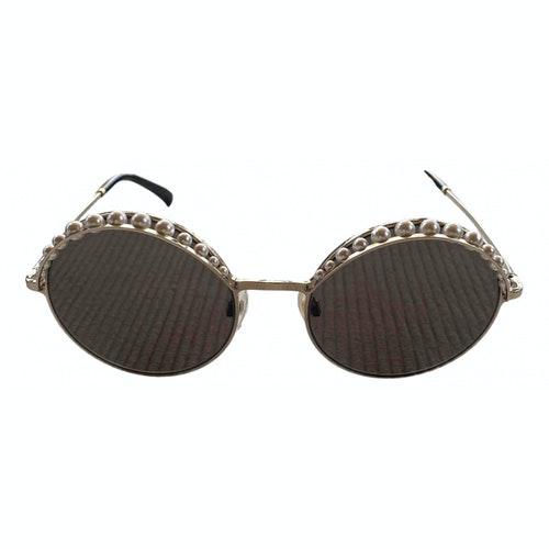 Chanel Silver Metal Sunglasses