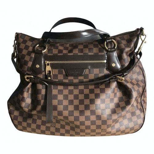 Louis Vuitton Evora Brown Cloth Handbag