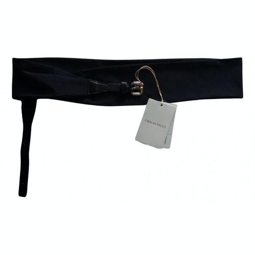 Emilio Pucci Black Silk Belt