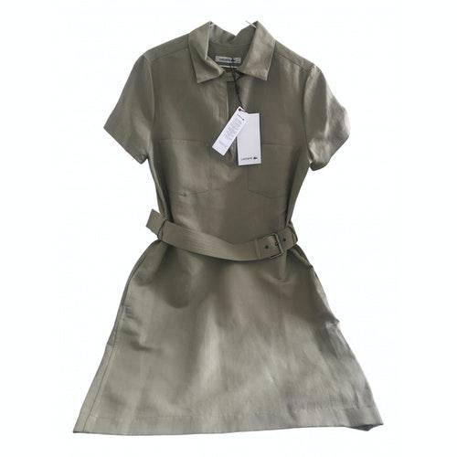 Lacoste Khaki Cotton Dress