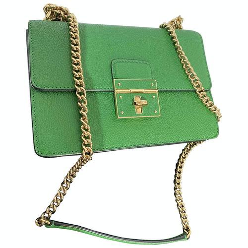 Dolce & Gabbana Green Leather Handbag