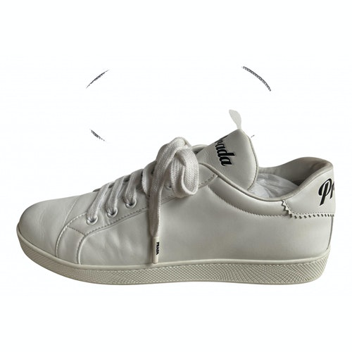 Prada White Leather Trainers