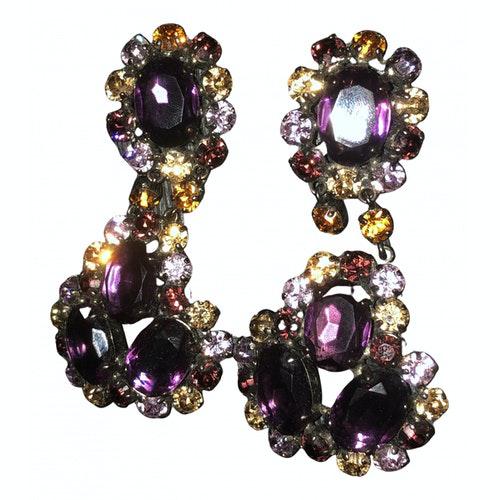 Furla Purple Steel Earrings