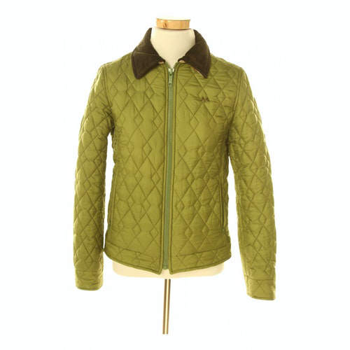 Burberry Green Leather Jacket