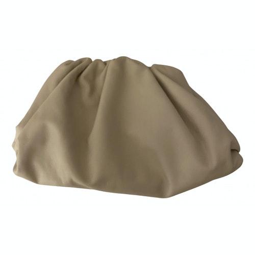 Bottega Veneta Pouch Ecru Leather Clutch Bag