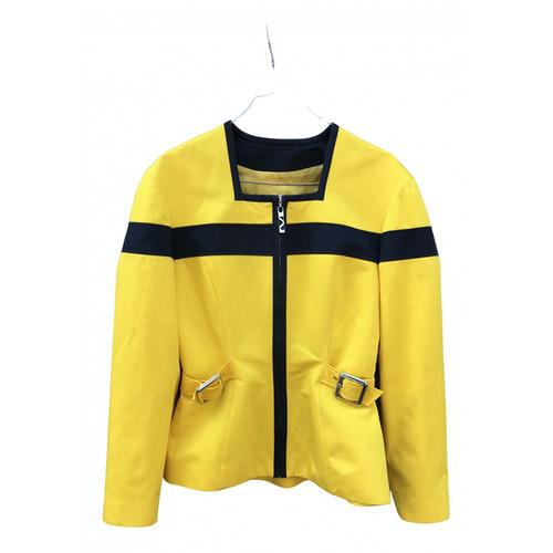 Mugler Yellow Cotton Jacket