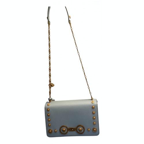 Versace Icon Blue Leather Handbag