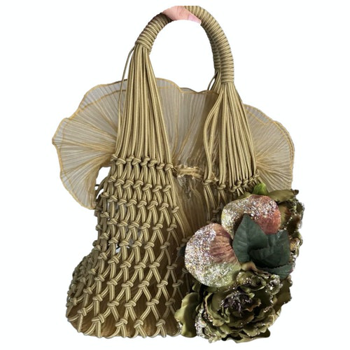 Miu Miu Beige Cotton Handbag