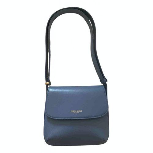 Giorgio Armani Blue Leather Handbag