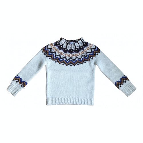 Loewe Ecru Wool Knitwear