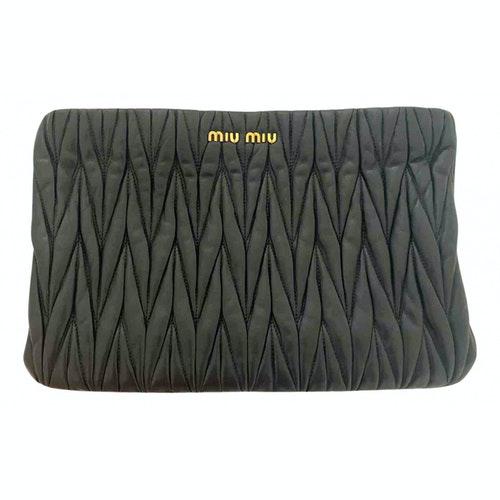 Miu Miu Black Leather Clutch Bag
