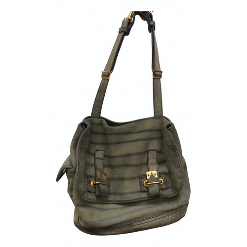 Saint Laurent Messenger Khaki Leather Handbag
