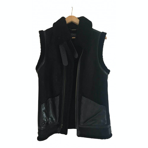 Polo Ralph Lauren Black Leather Leather Jacket