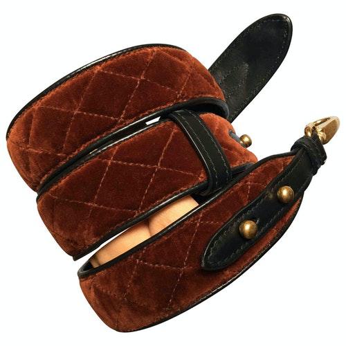 Prada Brown Velvet Purses, Wallet & Cases