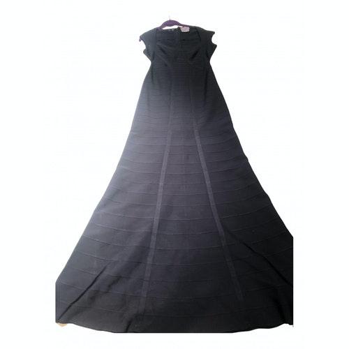 Herve Leger Navy Cotton - Elasthane Dress