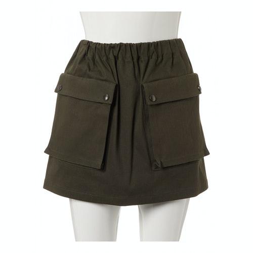 Miu Miu Khaki Cotton Skirt