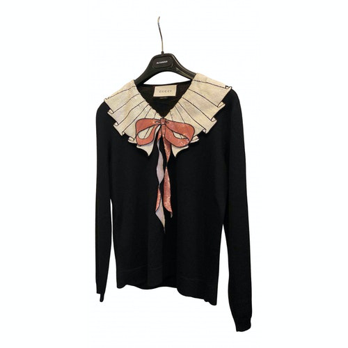 Gucci Black Wool Knitwear