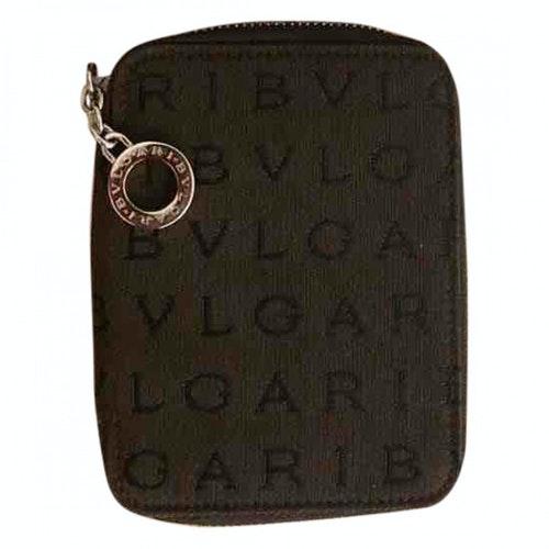 Bvlgari Brown Cloth Wallet