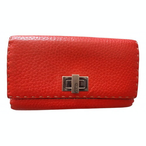 Fendi Red Leather Wallet