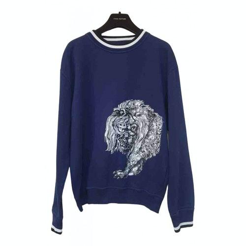 Louis Vuitton Blue Cotton Knitwear
