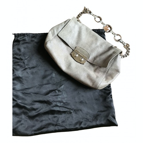 Saint Laurent Grey Leather Handbag