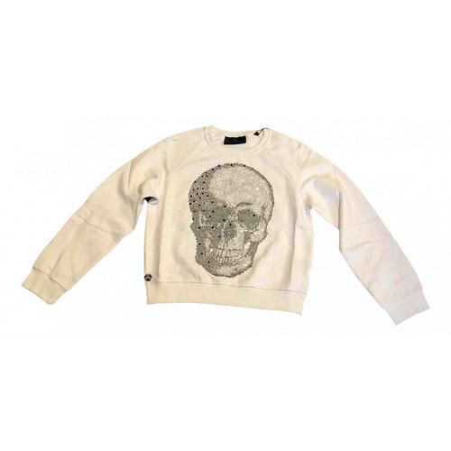 Philipp Plein White Cotton Knitwear